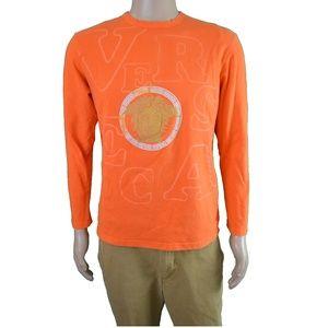 VINTAGE VERSACE SPORT Orange LS Graphic Shirt L/XL